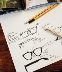 Eyewear design drawings