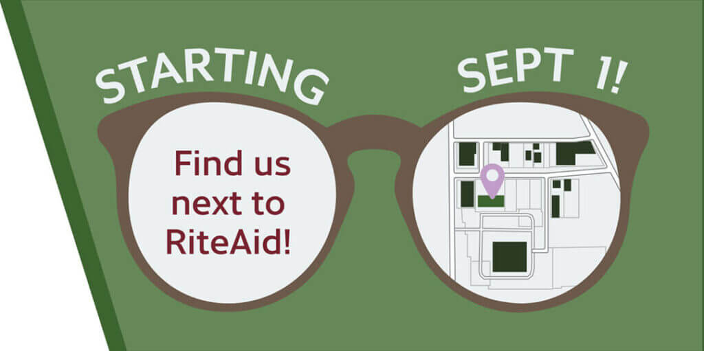 Starting Sept 1st, Find us next to RiteAid