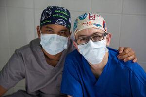 Doctors on eyesight mission