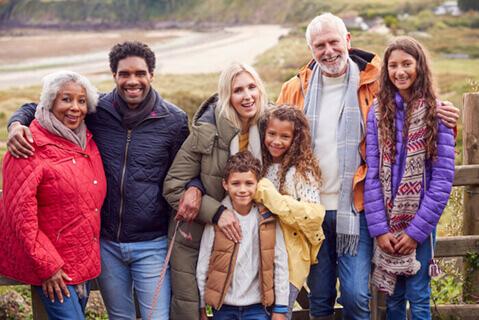 Multigeneration family group photo