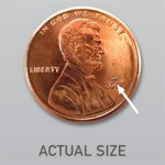 iStent actual size compared to penny