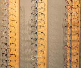 Eye Glasses display in an optical shop